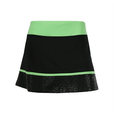 Fila Spotlight Active Skirt - Black/Lime Tonic