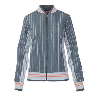 Fila Game Day Jacket - Charcoal Heather Stripe/White Pinstripe