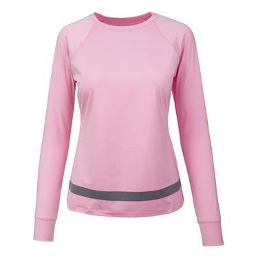 Fila Simply Smashing Long Sleeve Top - Prism Pink/Granite Grey