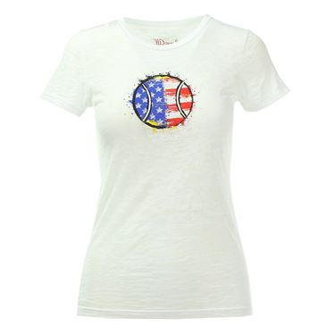 Love All USA Tennis Ball Tee - White