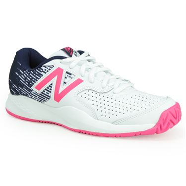 New Balance WC696AL3 (B) Womens Tennis Shoe - White/Alpha Pink