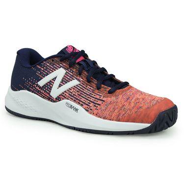 New Balance WC996VL3(D) Womens Tennis Shoe - Vivid Tangerine/Alpha Pink