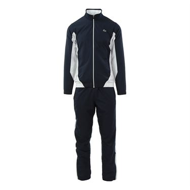 Lacoste Taffeta Color Block Tracksuit - Navy/White