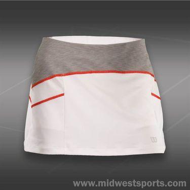 Wilson Ashland Heather 12.5 inch Skirt -White/Graphite Heather