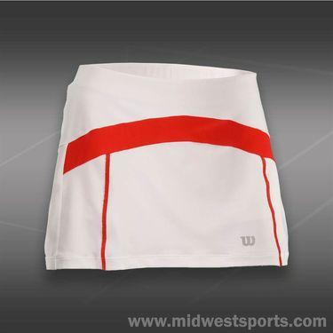 Wilson Ashland Colorblock 13 inch Skirt -White/Wilson Red