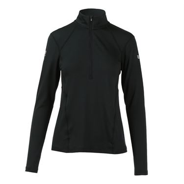 Wilson US Open 2016 Nvision Zip Neck Long Sleeve - Black