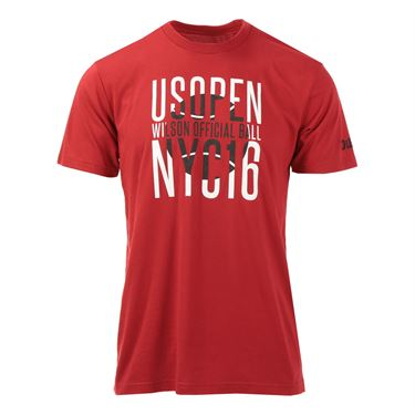 Wilson US Open 2016 Advanced Staff Tee - Red