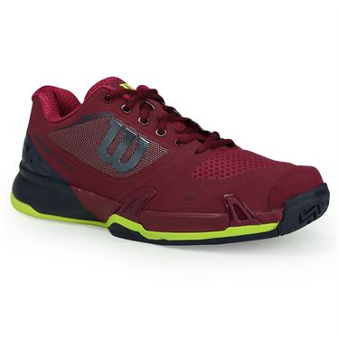 Wilson Rush Pro 2.5 Womens Tennis Shoe - Beet Red/Evening Blue/Safety Yellow