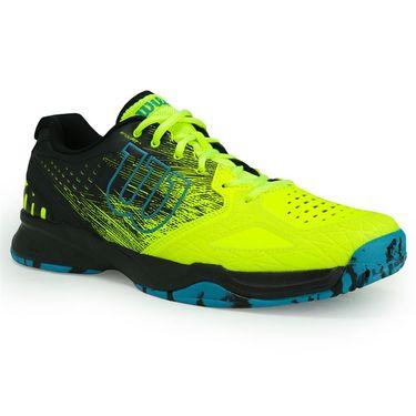Wilson Kaos Comp Mens Tennis Shoe - Safety Yellow/Black/Enamel Blue