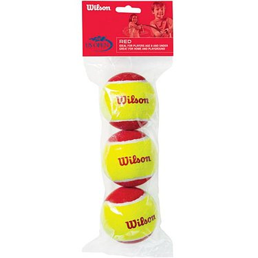 Wilson Starter Game Balls Low Compression Red 3 Pack WRT137000