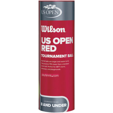 Wilson US Open Red Tournament Transition Tennis Balls (Case)