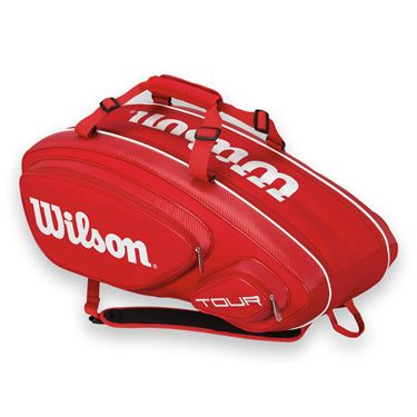 Wilson Tour V Red 9 Pack Tennis Bag