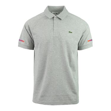 Lacoste Lifestyle Super Light Polo - Silver Grey/Chinese Red/Navy