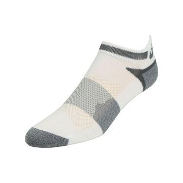 Asics Quick Lyte Cushion Single Tab Sock (3 Pack) - White/Grey Heather
