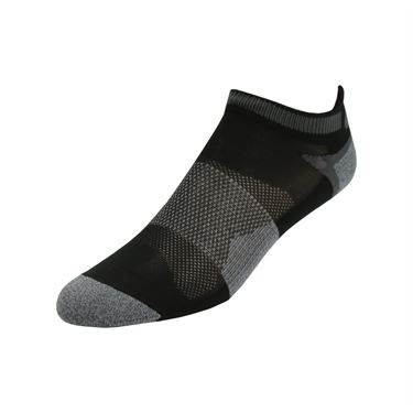 Asics Quick Lyte Cushion Single Tab Sock (3 Pack) - Black/Grey Heather