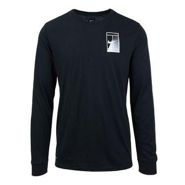 Nike Court Dry Tennis T-shirt - Black/White