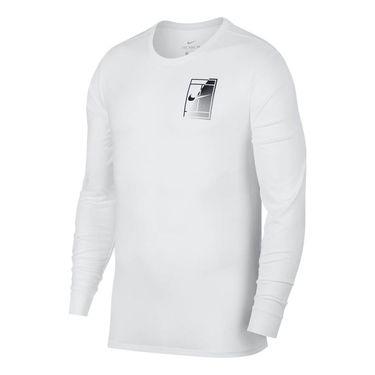 Nike Court Dry Tennis T-shirt - White/Black