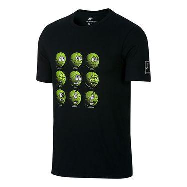 Nike Court Tennis Ball Tee - Black/Wolf Grey