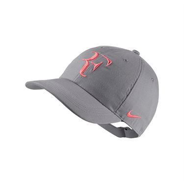 Nike Court Aerobill H86 RF Hat - Grey/Lava Glow AH6985 027