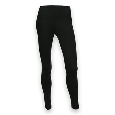 adidas Performer Mid Rise Long Tight - Black/Matte Silver