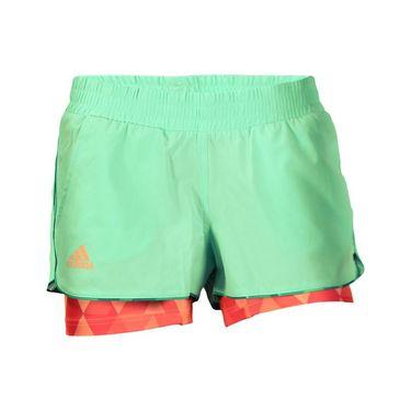 adidas Club Trend Short - Green Glow/Sun Glow/Shock Red