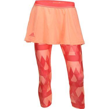 adidas Club Trend Skirt With Leggings - Sun Glow/Shock Red