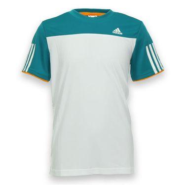 adidas Boys Club Crew - White/EQT Green/Super Orange