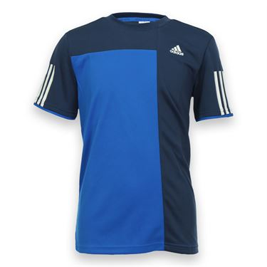 adidas Boys Club Trend Crew - Shock Blue/White