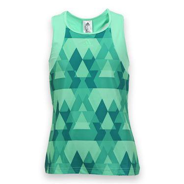 adidas Girls Club Trend Tank - Green Glow/Shock Green