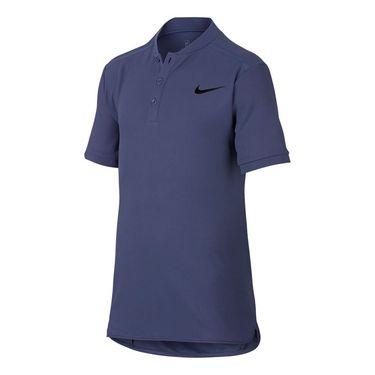 Nike Boys Court Advantage Polo - Blue Recall/Black
