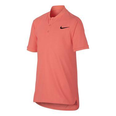 Nike Boys Court Advantage Polo - Lava Glow/Black