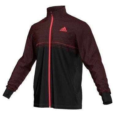 adidas Barricade Jacket - Black/Flare Red