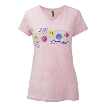 W&S 2017 V-Neck Bouncing Balls Tee - Pink