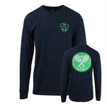 W&S 2017 Long sleeve Crossed Racquets T-Shirt - Navy Blue