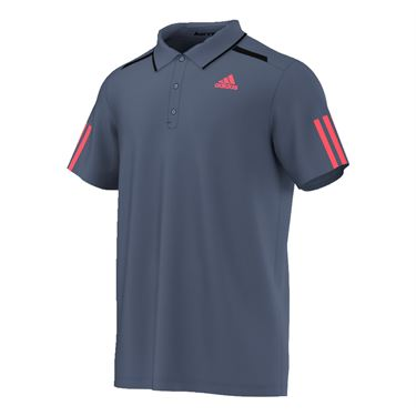adidas Barricade Polo - Ink/Flare Red