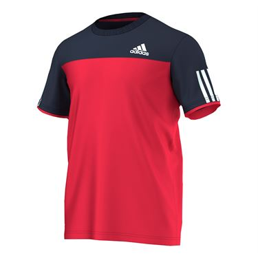 adidas Club Tee- Ray Red/Collegiate Navy/White
