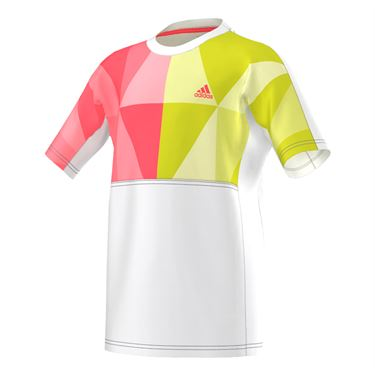 adidas Boys Pro Crew - White/Flash Red/Neon Yellow