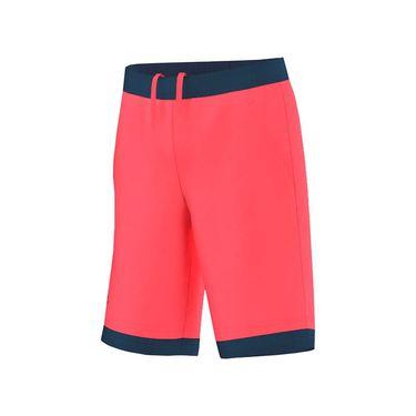adidas Boys Pro Bermuda Short - Flash Red/Tech Steel