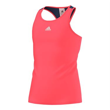 adidas Girls Pro Tank - Flash Red/Steel