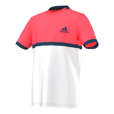 adidas Boys Court Crew - White/Flash Red/Tech Steel