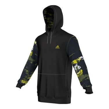 adidas Team Issue Element Fleece Hoodie - Black/Grey