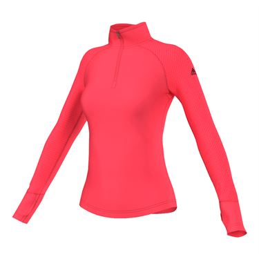 adidas Techfit 1/2 Zip - Shock Red