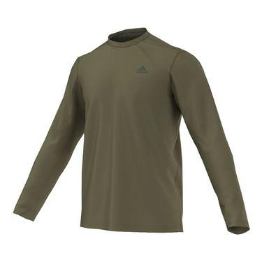 adidas Ultimate Long Sleeve Tee - Olive/Grey