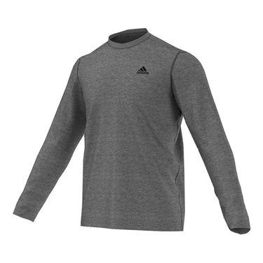adidas Ultimate Long Sleeve Tee - Dark Grey Heather