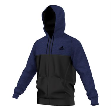 adidas Team Issue Full Zip Hooded Jacket - Ink/Black