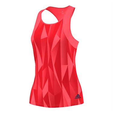 adidas Club Printed Tank - Flash Red/Steel