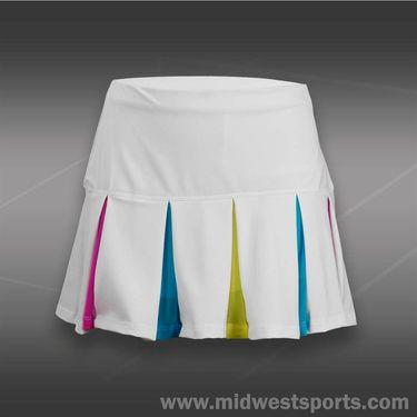 Lucky in Love Girls Love Plaid Pleat Skirt-Ocean Blue