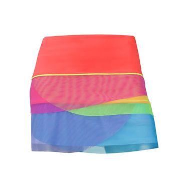 Lucky In Love Girls Nano Rainbow Mesh Scallop Skirt - Coral
