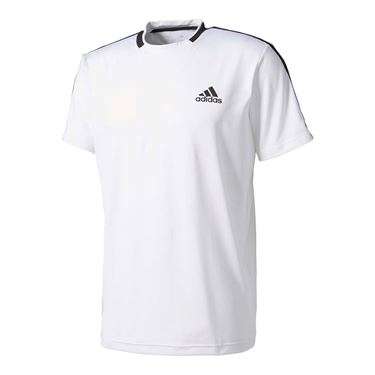 adidas advantage Tee - White/Black