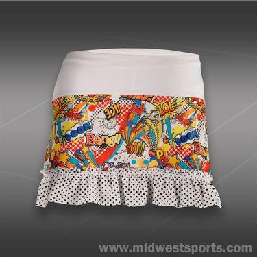 Lucky in Love Girls Pop Ruffle Skirt-Multi/White